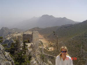 Jackie at Hilarion Castle in Cyprus