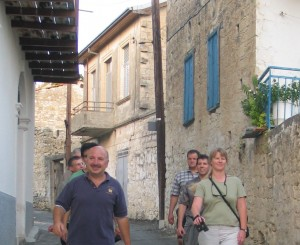 Alex Elder and Class Strolling in Cyprus