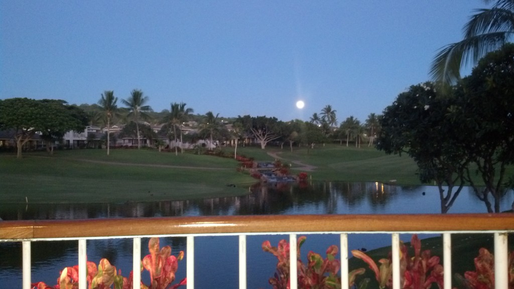Moon Rise from Restaurant