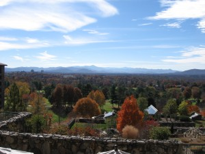 Blue Ridge Mtns from deck of Grove Park Inn