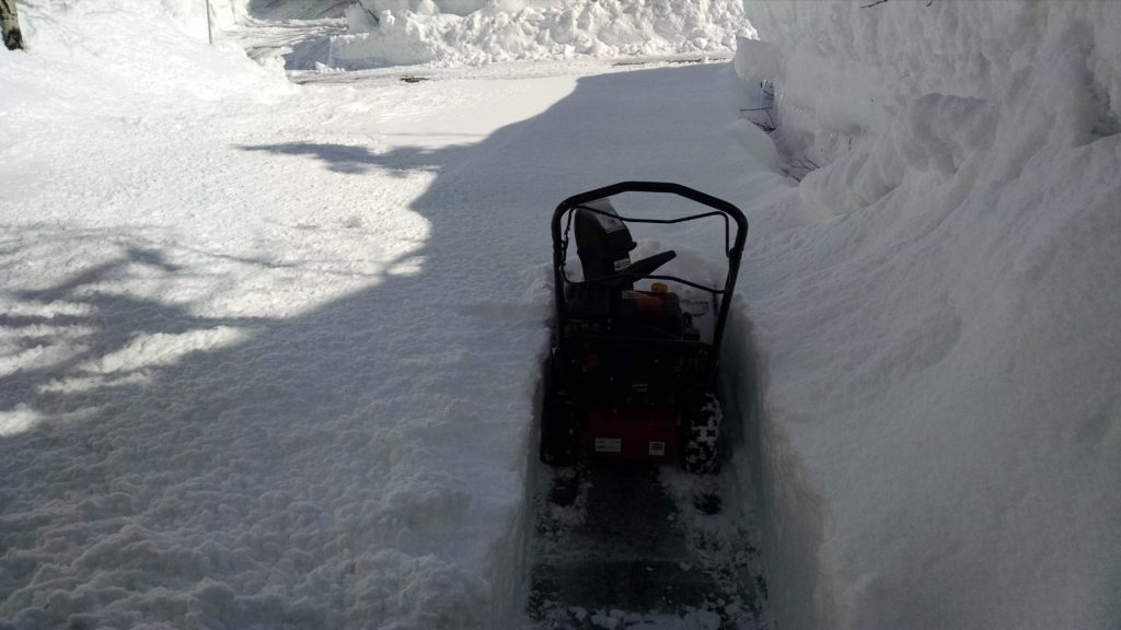 Kudos to the little snowblower that could!