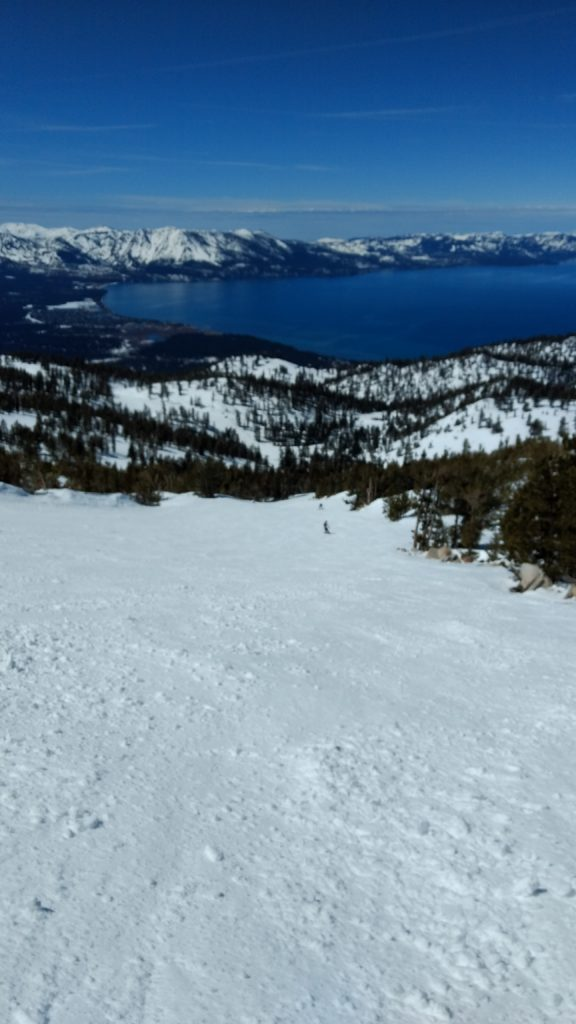Grateful for awesome views of the Lake Tahoe, esp at Heavenly